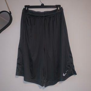 Nike Men's Dri Fit Gray Basketball Shorts Size L